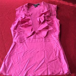 Arden B sz M, pink top w ruffles! Wrinkly, sorry!